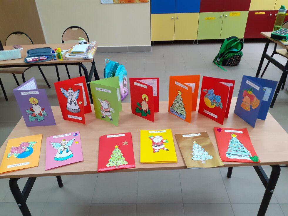 Kartki świąteczne w wykonaniu klasy IIa